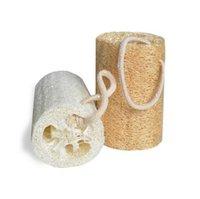 패션 욕실 액세서리 욕조 브러쉬 5 인치 자연 Loofah 스폰지 목욕탕 샤워 Lluffa 접시 청소 브러시