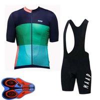 Maap Takımı Bisiklet Bisiklet Kısa Kollu Jersey Önlüğü Şort Set 2021 Yaz Hızlı Kuru Erkek MTB Bisiklet Üniforma Yol Yarışı Kitleri Açık Sportwear S21043031