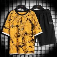 Summer Mens Casual Set Fashion 2 Pz Sportswear Suit Suit Manica corta T-shirt Shorts Set Set Set di tuta maschile Men Ducksuits da uomo 4XL