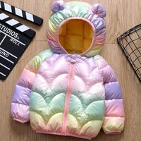 Down Coat Bobora Baby Girls Jacket Kids Boys Light Coats With Ear Hoodie Spring Girl Clothes Children's Clothing For