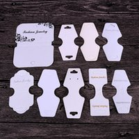 16 Style Black White Kraft Stud Earring Card Necklace Card Different Size Bracelet Hang Tag Jewelry Display Cards Label Tag 132 W2