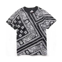 Unisex Bandana Men Donne Tshirt in cotone Paisley T-shirt manica corta maschio hip hop tee abbigliamento marchio 2021 estate justin bieber x0712