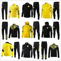20 21 Giacca da calcio da uomo Borussia Dortmund 2020 2021 HAALAND REUS tute da calcio tuta da allenamento soccer tracksuit jacket training