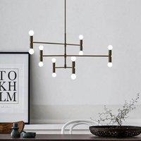 Pendant Lamps HOOLILO Living Room Decoration Chandelier Loft Bedroom Shop Lamp Light Nordic Gold Black Fashion Lighting Free Shiping