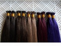 """Estensioni dei capelli indiani Remy Nano 16 """"18"""" 20 """"22"""" 24 """"1G S 100G PK indiano Remy Human Micro Nano Anelli Suggerimento per capelli"""