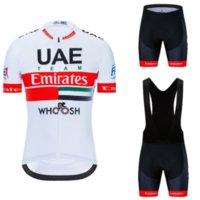 Novo 2021 Emirados Árabes UAE Camisa 20 D Ciclismo Shorts Desgaste Um terno Ropa Ciclismo Mens Verão Quick Seco Pro Ciclismo Calças de Calças Vestido 20D