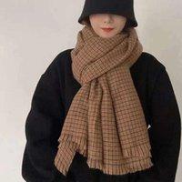 Hats, Scarves & Gloves Sets 2021 Winter Women's Scarf Shawl Warm Blanket Cashmere Headscarf Around The Neck