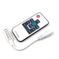 10 키 RF 무선 미니 RGB 컨트롤러 LED 스트립 램프 전구 조명 디밍 5V 12V 24V 원격 제어 디머 스위치 DC / 와이어 커넥터