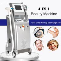ND YAG Лазерная татуировка удаление IPL Opt SHR быстрое удаление волос Ekight Омолаживание кожи Вены Снижение RF LLLT Оборудование