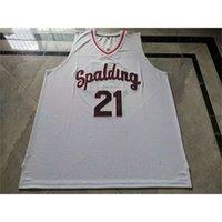 123001Rare jersey de basquete homens juventude mulheres vintage # 21 Rudy gay arcebispo spalding High School College size s-5xl personalizado qualquer nome ou número