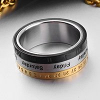 jewelry rings for men titanium steel date 3 colors cool Punk open rings hot fashion free of shipping