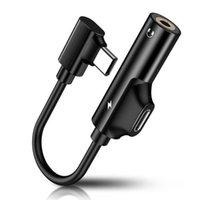 USB 유형 C to 3.5mm 잭 Typec 오디오 스플리터 헤드폰 케이블 이어폰 Aux 3.5 어댑터 충전기 Xiaomi Mi6 Mix2 용 USB-C
