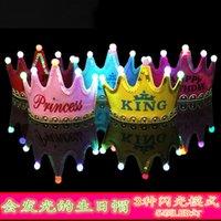 Hats Party celebrations decoration supplies Prince crown cake LED luminous hoop Dress Hat