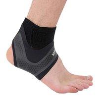 Suporte de tornozelo 1 PCS Protetor elástico ajustável cinta de cinta faixas de basquete futebol badminton taekwondo envoltório proteção
