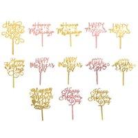 Glückliche Muttertagstorte Topper Party Supplies Acryl Rose Gold Dekoration GWB6238