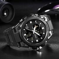 Relógios de pulso Addies estilo militar homens esportes relógios 50m À Prova D 'Água Esporte de Luxo Assista Quartzo Digital Digital Mergulho de Mergulho 1 Pcs