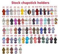 Neoprene Chapstick Holder Keychains 63pcs Bulk Lipstick Holder Keychains Chapstick Keyring Holder The Best Gift for Birthday wjl0483