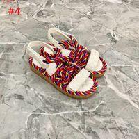 Luxo 2021 cordão mulas sandálias mulheres chinelos chunky chinelos plana, multicolorido de dedo do pé multicolor moda outdoor cunha feminina sandália casual