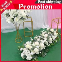 Decorative Flowers & Wreaths Wedding 100cm Flower Row Arch Arrangement Stage Road Lead Scene Layout Party Decoration Floral