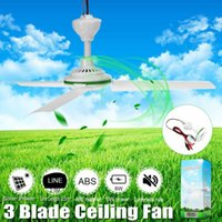 Electric Fans Environmental-friendly 12V 6W Solar Ceiling Fan Powered Cooling Small Air Conditioning Appliances