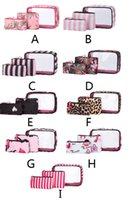 المحمولة pvc حقيبة مستحضرات التجميل مجموعات في 3 قطع صغيرة متوسطة أكبر في الهواء الطلق الأزياء ماء أكياس ماكياج مجموعة السفر حجم مستحضرات التجميل تخزين الحالات 9 أنماط السفينة حرة