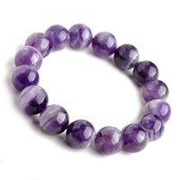 Perlen, Stränge fallen natürliches Material Energie stein lila Charoite armband runde perlen bangle quarz schmuck liebe geschenk /