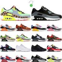 2021 Mode 90 Menshoes Runing Chaussures Femmes Sports Sneakers 90s Hyper Hyper Hyper Grape Dancefloor Royal Vert Bleu Fury White Running Hommes Trianers 36-45