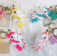 Fashion Stereo Cartoon Image Keychain Charm Keyring Creative Mobile Phone Bag Car Exquisite Pendant Gift For Friends
