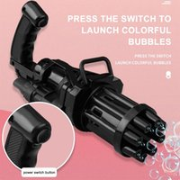 Electric Bubble Machine Gatling Gun Summer Children Outdoor Automatic Blowing Toy Function For Kids Wholesale Party Decoration