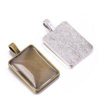 Tempo 18 * 25mm Base in lega rettangolare FAI DA TE Accessori per gioielli fatti a mano Collana Pendente