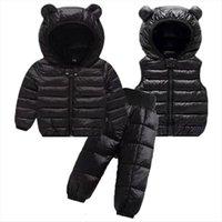 Toddler Winter Baby Girls Boys Clothing Sets Warm Faux Jacket Clothes Children Kids Snowsuit Coats Vest Pants Overalls