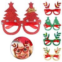 Decorazione di Natale Occhiali Bambini Regali di Natale Forniture per vacanze Paper Led Party Glasses Creativo Popolare RRA7498