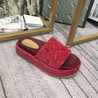 2021 мода женские тапочки дизайн дизайн густые нижние удобные подлинные туфли роскошная атмосфера элегантный
