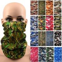 Estilo de camuflaje Bandana Bufanda Impresión digital Al aire libre Bandana Montando boca Protección de la nariz Bufandas Dropship Bufandas Cuello Pagar 418 Z2