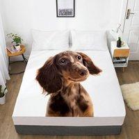 صفائح مجموعات فاخرة مطاطا سرير ملطخة السرير مع الفرقة فراش غطاء تخصيص حجم للمنزل الحيوان تان