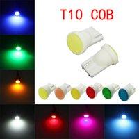100Pcs Lot T10 W5W 168 194 Super Bright COB Chips Car Bulbs For Auto Width Indicator Lamps Reading Lights 12V