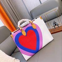 Luxurys Designer Handtaschen M44576 Damen Tote Shopping Taschen Großhandel Handtasche Mode Onthego Classic Brief Geldbörse 36 41 cm unterwegs