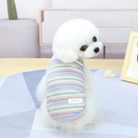Vestuário de cão primavera e verão Cães de verão Roupa Pequeno Pet Teddy Supplies 21 Colete Color 5 Tamanhos