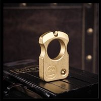 Copper Good Brand New Pure Bottle Opener Dusters Tool Multifunctional Brass Knuckles Tactical Survival Self Defense E