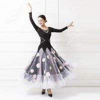 Anpassen Plus Size Frauen Ballsaal Tanzkleider Große Swing Tanzkleidung Standard Ballsaal Kleider Oversize Wiener Walmer Dress1