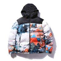패션 남자 다운 코트 20FW 겨울 남성 자켓 편지 파카와 함께 재킷을 가진 재킷을 따뜻한 편지 자수 패턴 windproof 자 켓