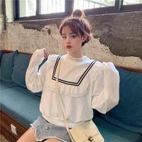 Harajuku Women Sweatshirts Kawaii Fashion Sweatshirt Female Spring And Autumn Thin Short Loose Wild Clothes Women's Hoodies &