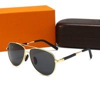 Fashion Edition Солнцезащитные очки 806653 Мужчины и женские металлические старинные солнцезащитные очки роскошный стиль овальный полный кадр UV400 объектив 5 цветов с коробкой