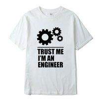 Xin Yi Mens T-shirt100% Coton Hommes T-shirts Faire confiance Je suis un ingénieur T-shirt T-shirt T-shirt en vrac