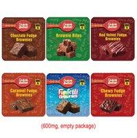 Brownies de Choclate Comestível Vazio Brownies Pacote Mylar Mylar Sacos Para Combrigões De Chocolate Embalagem Saco De Doces Cheiro De Cabelo De Zip Bloqueio Canna Manteiga Gummies Pacotes Resealable