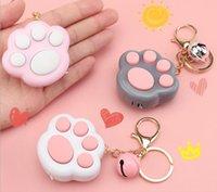 2021 jouet POP Fidget Jeu Fun Chain Key Chain Mini Cartoon Cat's Paw's Paw Memory Accrocher Acte Le rôle des cadeaux créatifs jouets
