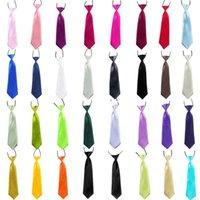 Crianças Gravata Gravata Gravata Elástica Ajustável Acessórios de Bebê Cores Sólidas Gravatas Casuais Gravata Gravatas Para Crianças