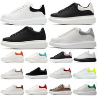 2021 Designer White Black Shoes Classic Suède Fluweel Lederen Vrouwen Womens Flats Platform Oversized Sneaker Mannen Mens Espadrille Flat Sole Sneakers