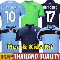 20 21 Lazio camisetas de futebol 2021 copa liga camisa LUIS ALBERTO 120º aniversário IMMOBILE SERGEJ Homens kit infantil uniformes