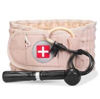 Decompression Lumbar Support Waist Air Traction Brace Spinal Back Relief Belt Backach Pain Release Massager Unisex